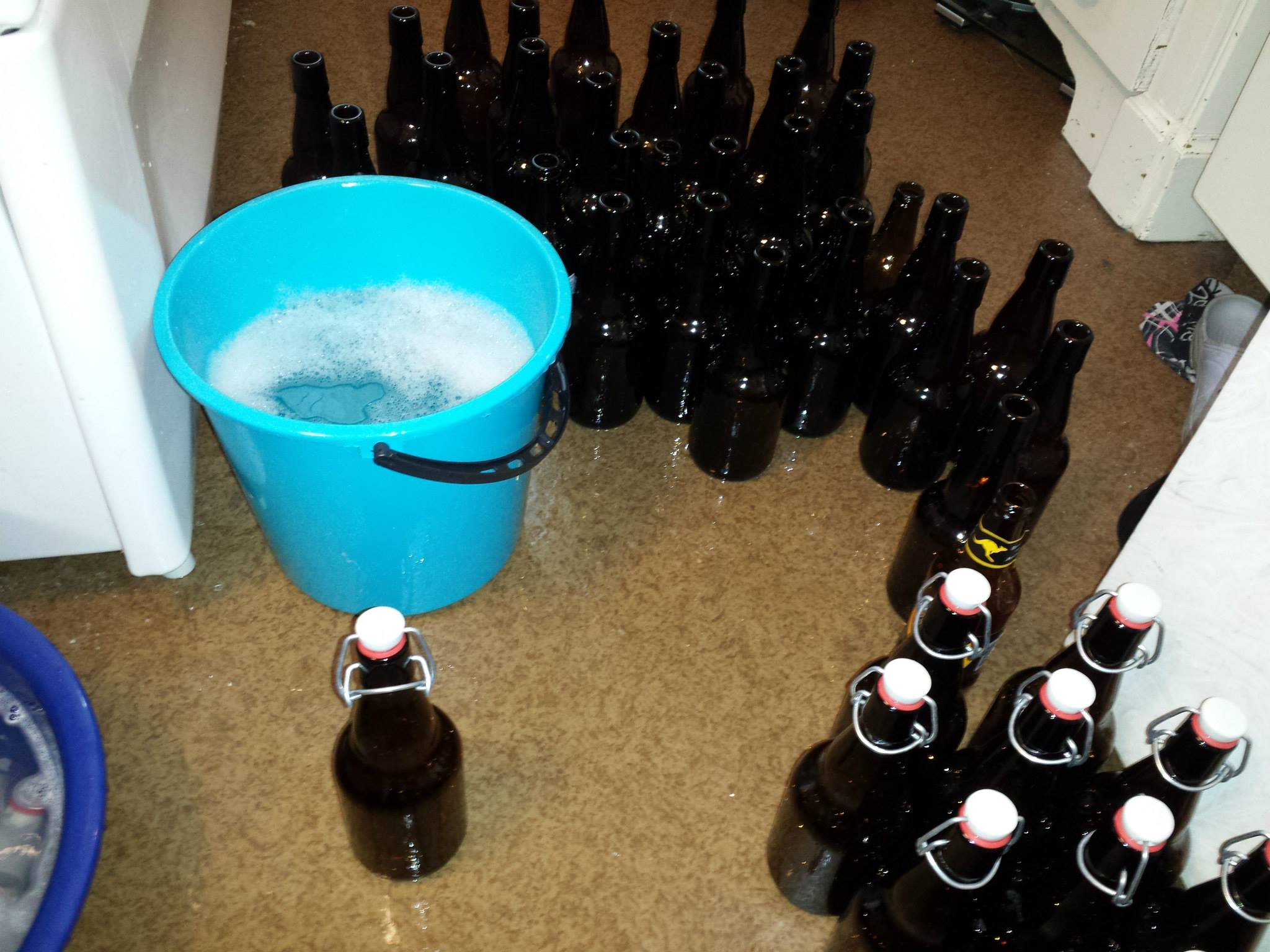 Desinficering av flaskor